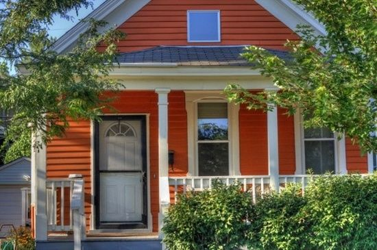 Orange Painted Houses Exterior House Colors