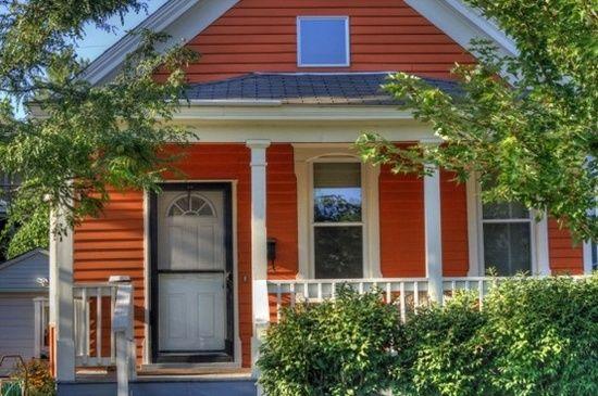 Orange house exterior