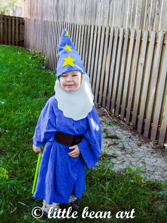 Wizard hat and beard Halloween costume for by littlebeanart Kidsu0027 costume Baby costume  sc 1 st  Pinterest & Wizard hat and beard Halloween costume for by littlebeanart Kids ...