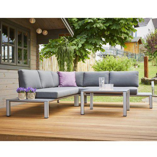 5 Sitzer Lounge Set Cobos Mit Polster Garten Living Lounge Mobel Gartensofa Gartenmobel