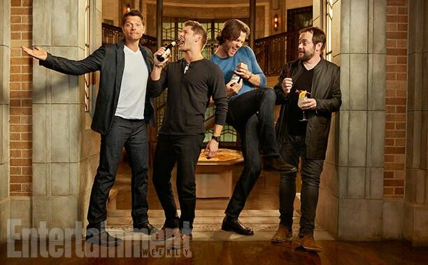 That moment when Misha is the tallest...