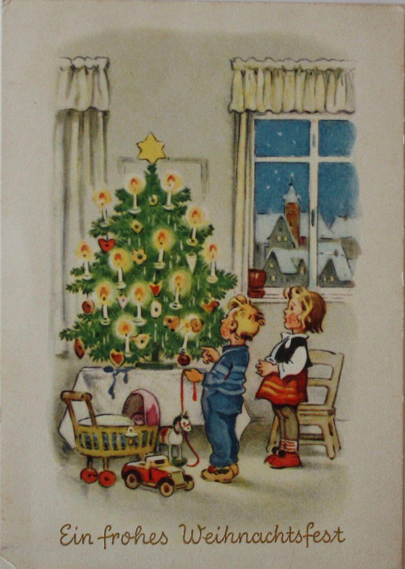 Card Verlag Weihnachtskarten.Kinder Bestauenen Den Lichterbaum F Baumgarten Planet Verlag Berlin