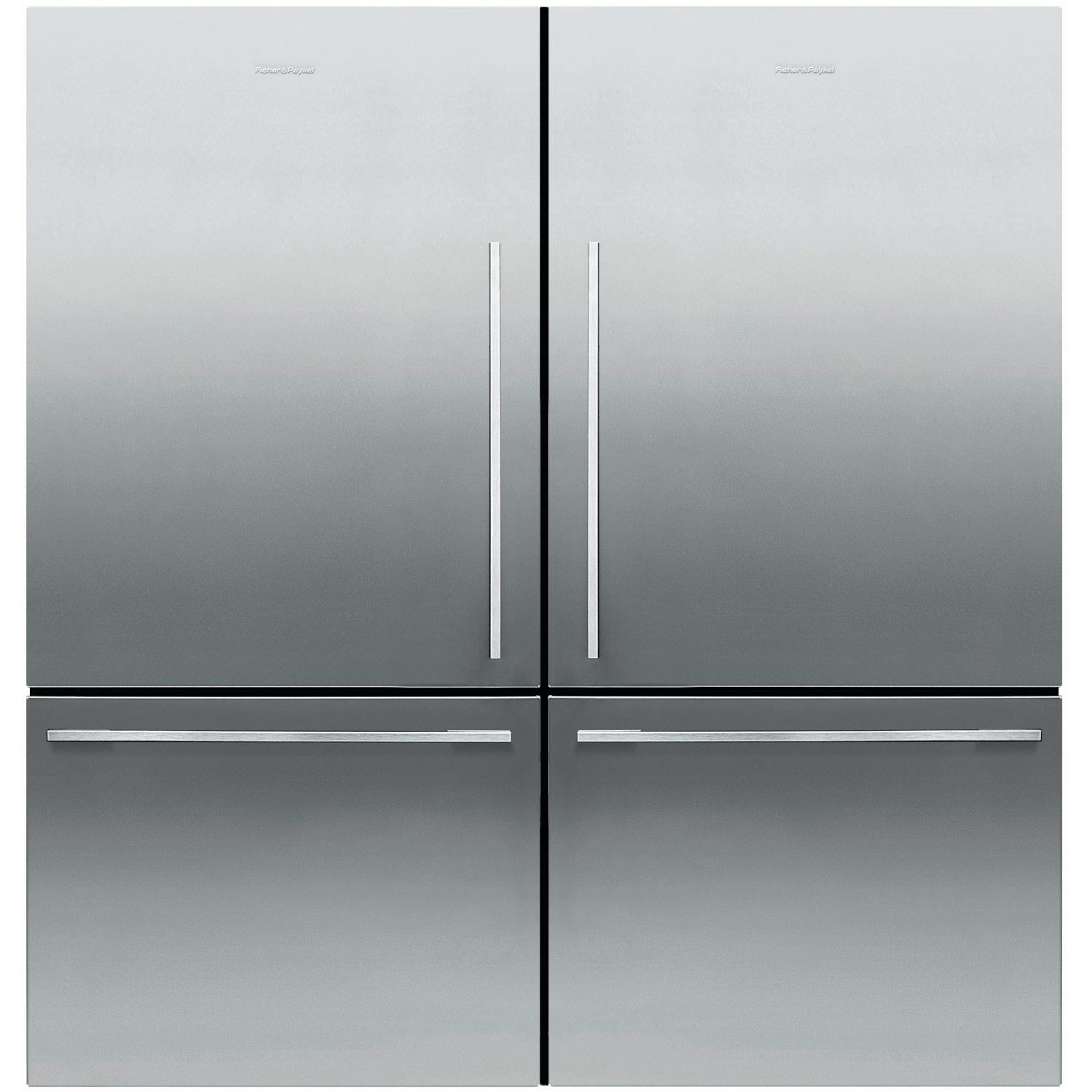 Fisher Paykel 64 Inch Wide Dual Bottom Freezer Counter Depth Refrigerators W Flat Doors Stainless Steel Rf170wdlx5 Rf170wdrx5