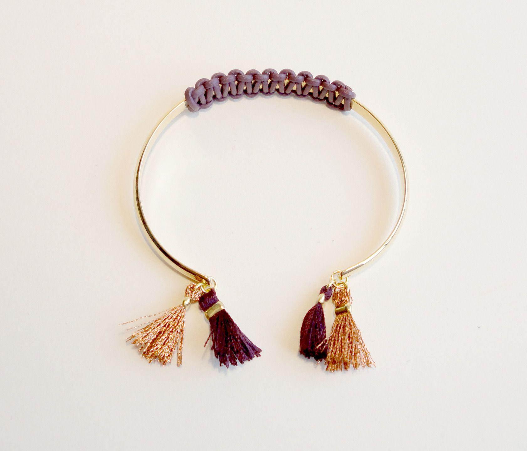 nouveaute couleur prune bordeaux vieux rose dor bracelet demi jonc ovale et ouvert. Black Bedroom Furniture Sets. Home Design Ideas