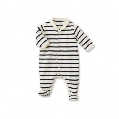 0a4a8a37d0fb0 Pyjama à Pieds Marinière Mally Ecru Petit Bateau