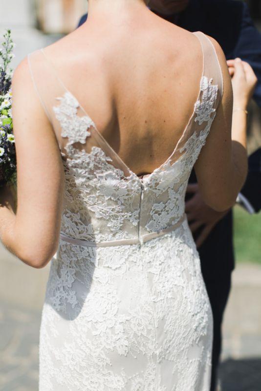 Tweedehands bohemian trouwjurk
