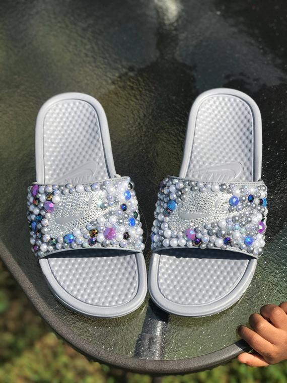 3e67f07a0 Bling Nike Slides *Pre-Order in 2019 | Products | Nike slides, Nike ...