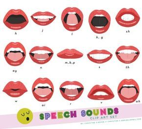 Various Mouth Forms Depicting Common Speech Sounds Perfect For Speech Language Speech And Language Speech Language Therapy Speech Therapy Games
