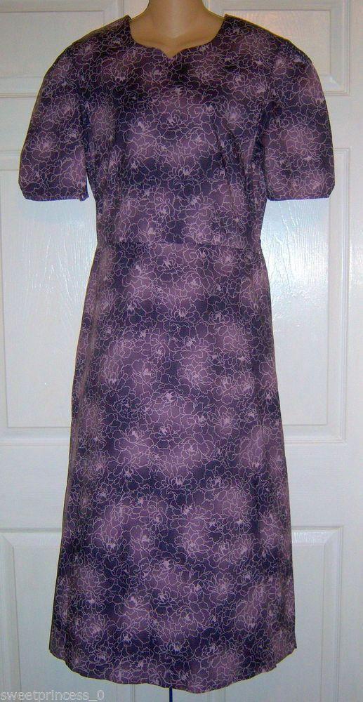 "Amish Mennonite Modest Handmade Fall Cape Dress 40""Bust ..."