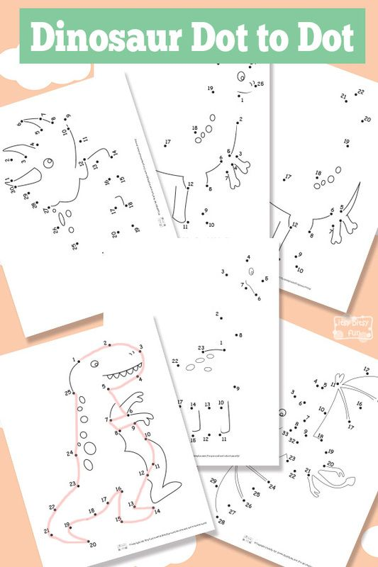 Dinosaur Dot To Dot Worksheets Homeschooling Dinosaurs Preschool