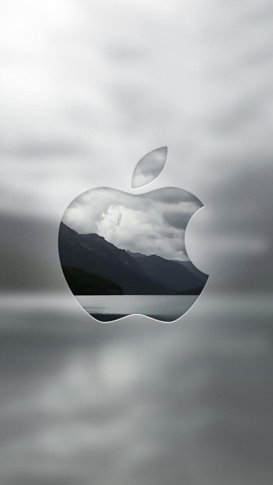 monotone apple | iphone wallpapers | pinterest | iphone wallpaper
