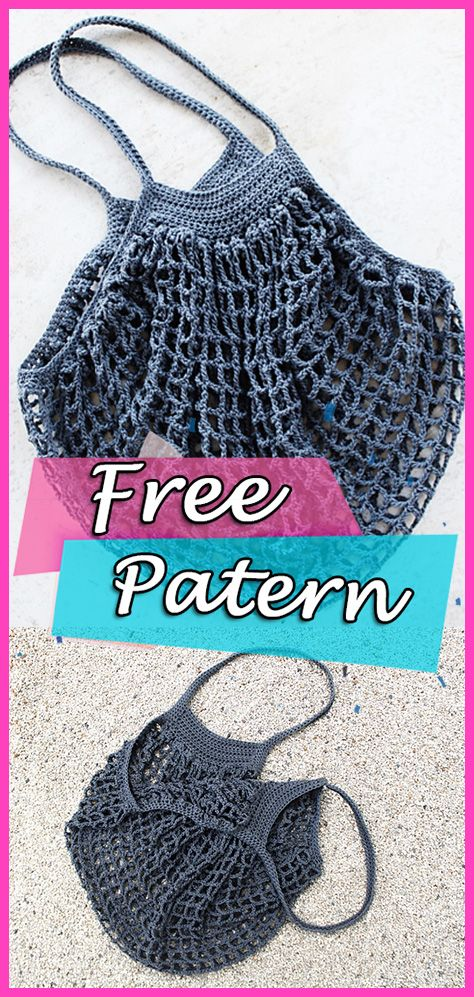 French Market Bag Free Crochet Pattern Crafts Diy