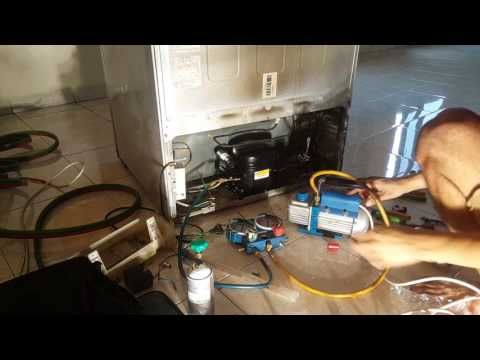 Refrigerator Gas Charging And Fridge Repair R134a Refrigerant Freezer Change Not Cooling Youtube Refrigerator Fridge Repair Refrigerator Compressor