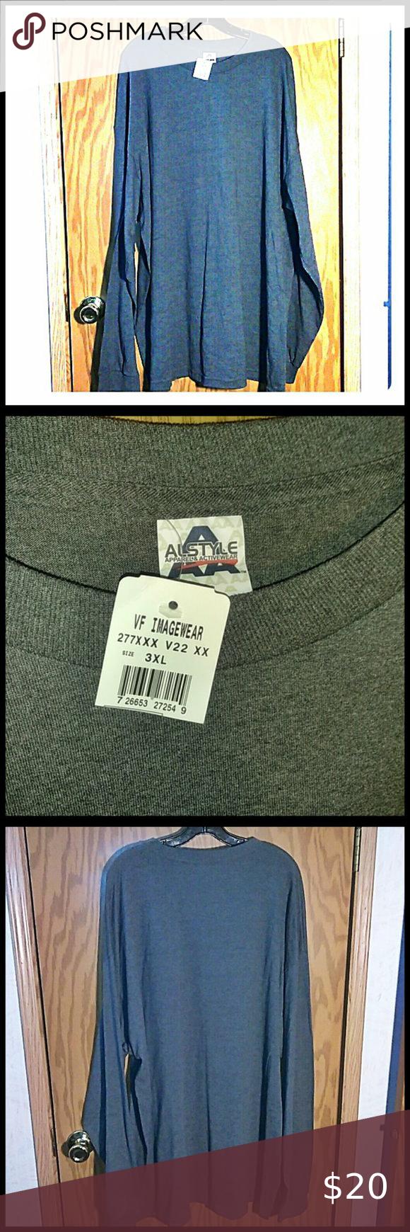 Alstyle Apparel Aaa Long Sleeve T Shirt Gray 3 Xl Alstyle Apparel Shirts Grey Long Sleeve Tshirt Men