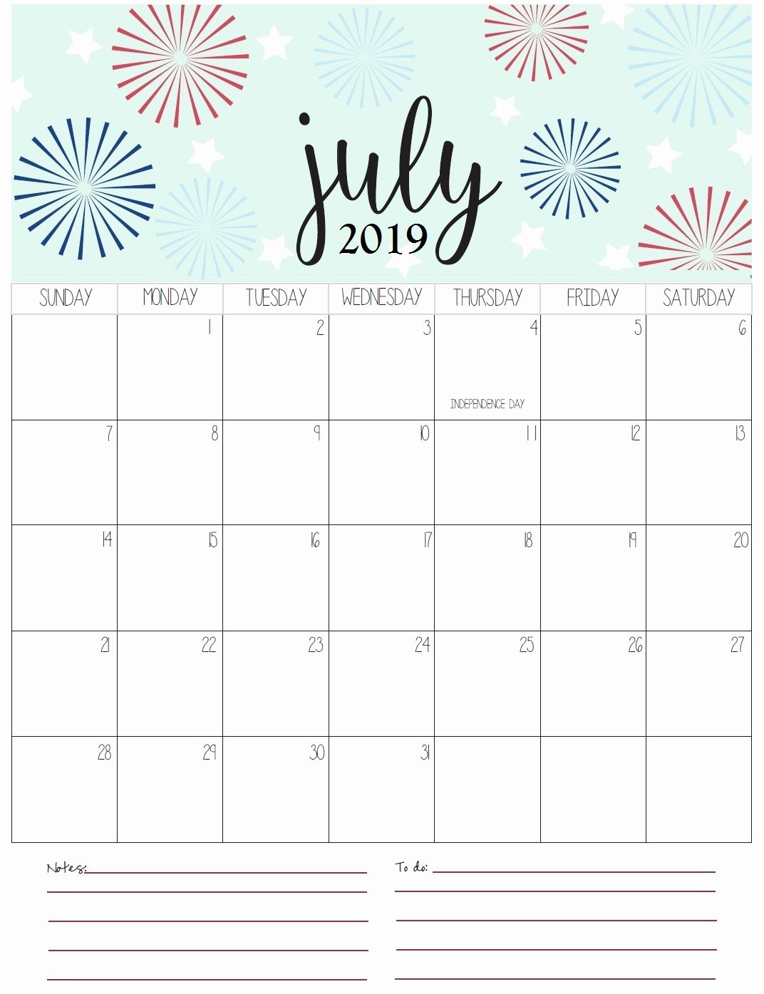 Get July Holidays 2019 Calendar Printable For Usa Uk Canada 7