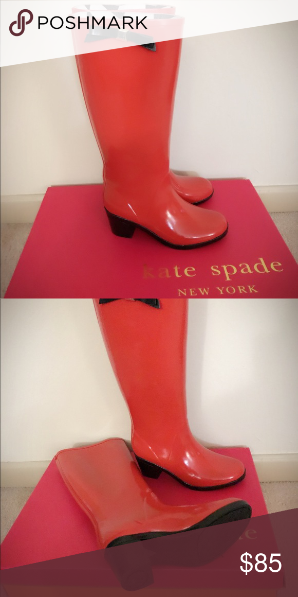 2706cda168ca Kate Spade rain boots Authentic Kate Spade New York. Raylan rain boots.  Gently worn Excellent condition. kate spade Shoes Winter   Rain Boots