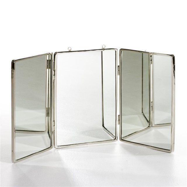 Miroir grand modèle L112,5 x H51,25 cm, Barbier Salle de bain des - Meuble Avec Miroir Pour Salle De Bain