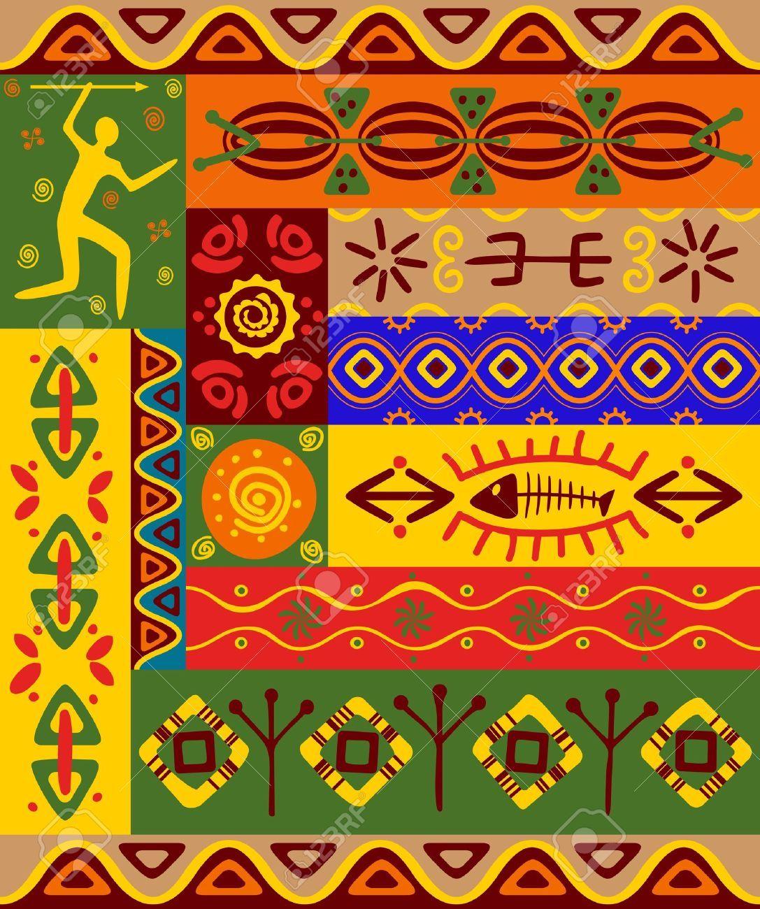 Abstrakt Ethnische Muster Und Ornamente Fur Design Standard Bild 9929699 Ethnische Muster Afrikanische Kunst Afrikanische Muster