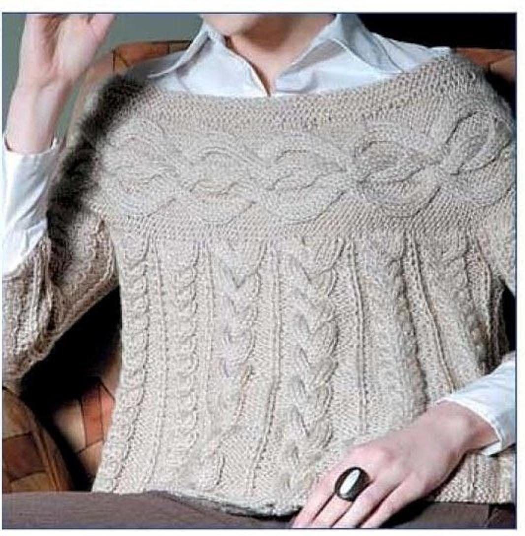 Ganchillo y dos Agujas: Sweater con torzadas (trenzas) | Knitting ...