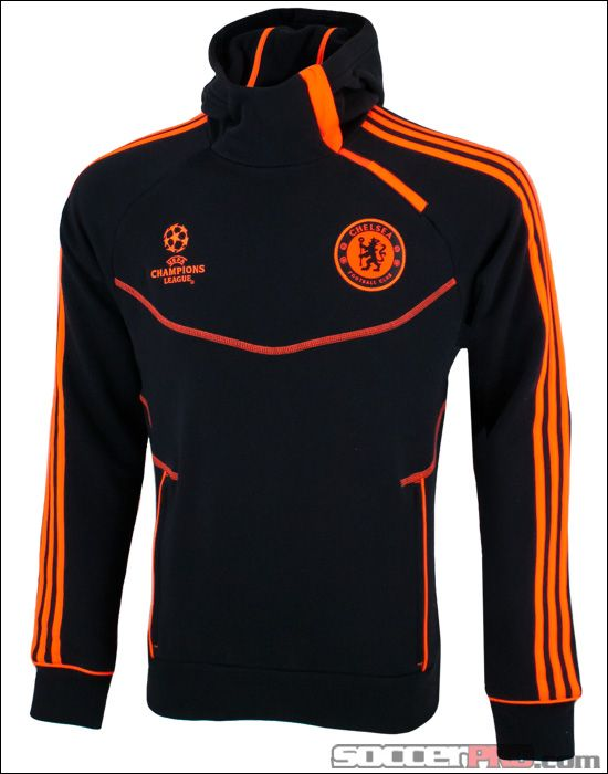 8026905c7b4c3 adidas Chelsea Champions League Hooded Sweatshirt - Black with  Warning... 62.99
