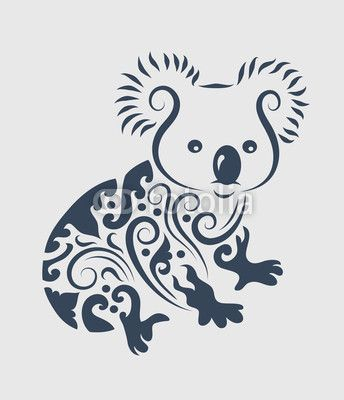 Vector: Koala tattoo design