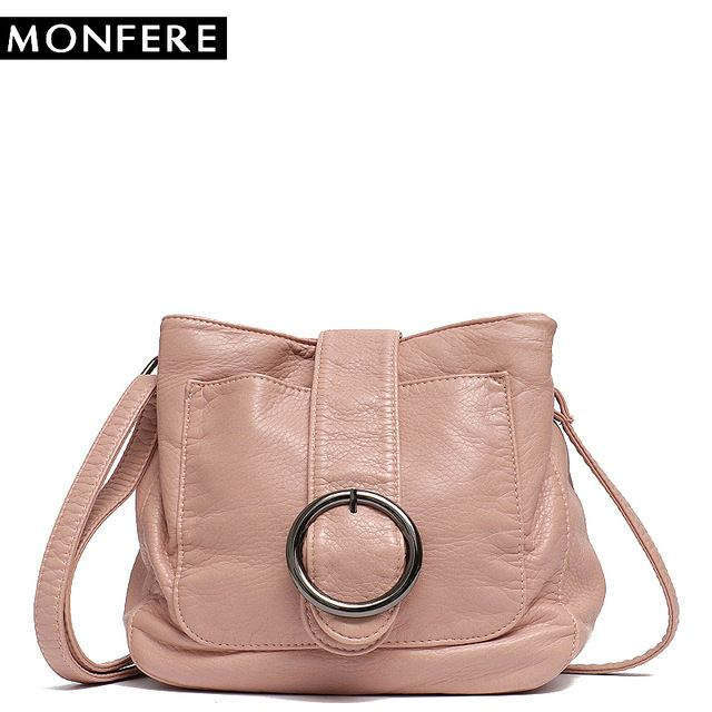 17ca03779b MONFERE Brand Candy Color Women Messenger Bag Wash Pu Leather Girls Soft  Small Handbag High Quality Ladies Shoulder Bags