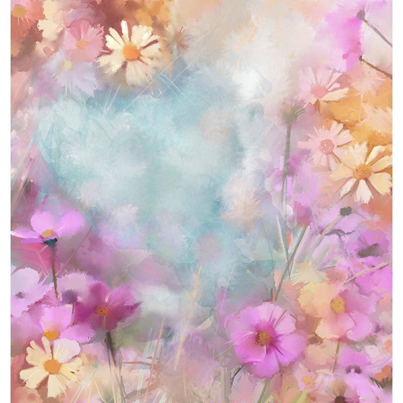 >> Click to Buy << Oil Painting Flowers  photo backdrop High-grade Vinyl silk cloth Computer printed party photography studio background #Affiliate