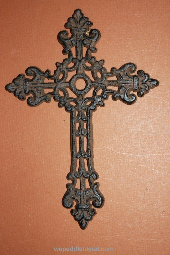 "Elegant Wall Decor For Living Room: ELEGANT AND STYLISH CAST IRON CROSS WALL DECOR, 9 7/8"" (C"