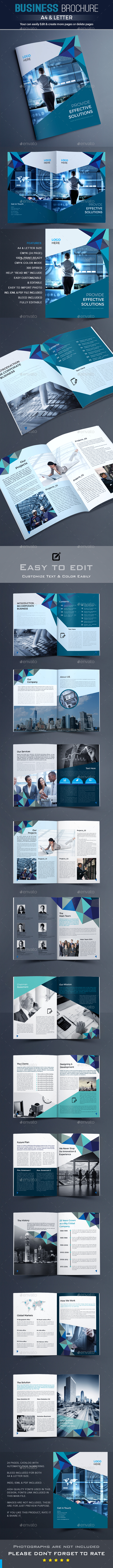 Brochure Template Vector EPS, InDesign INDD, AI Illustrator ...