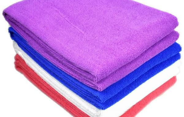 Standard Bath Towel Size Microfiber Bath Towel Composition 8020 Blend Of Polyester And