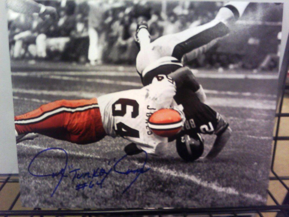 Joe Quot Turkey Quot Jones Cleveland Browns Signed 8x10 Photo