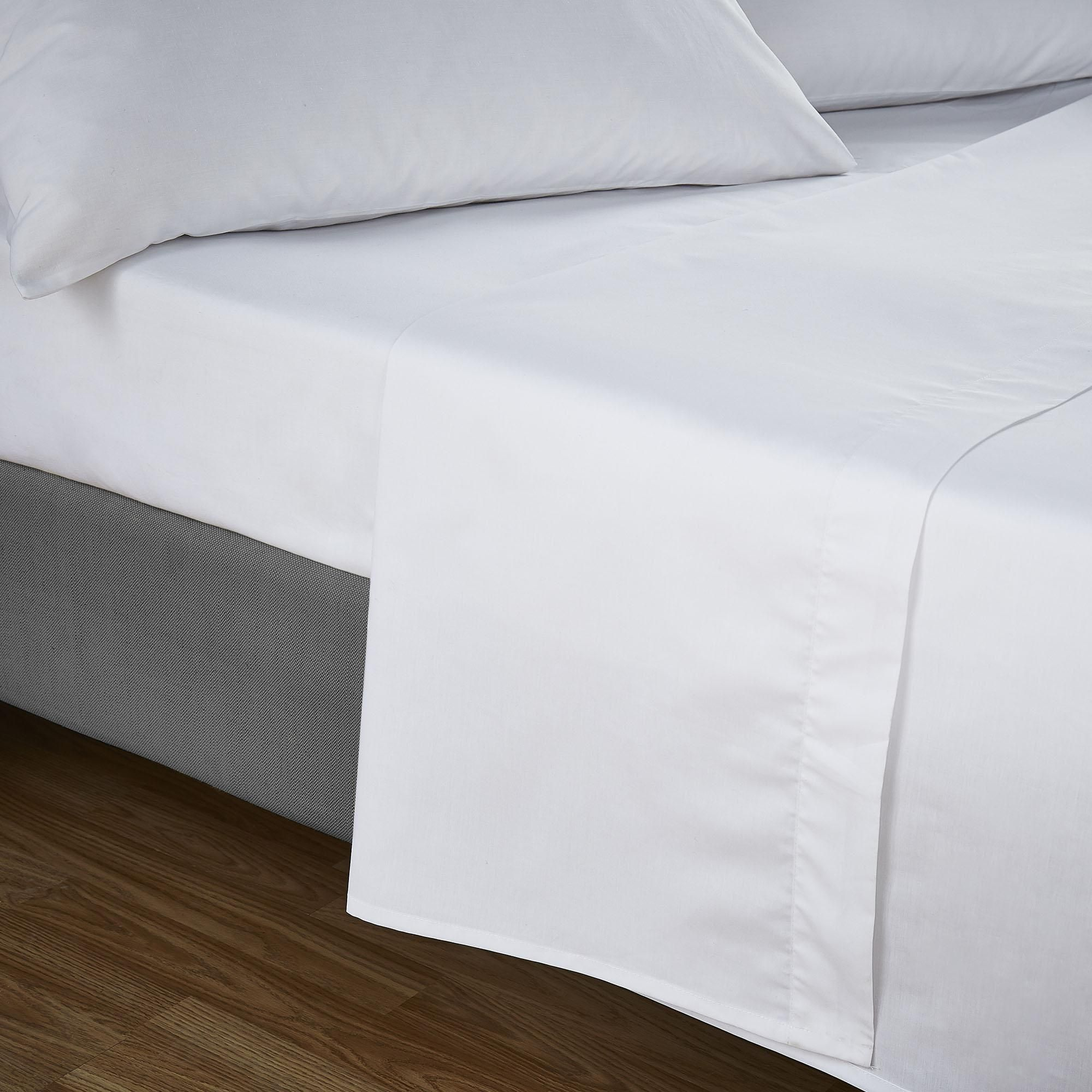 Percale Fitted Sheet Non Iron Bed Single Double Super King Size Bedding Kingsize
