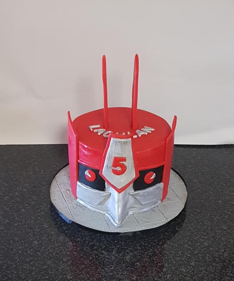 Transformer cake by the custom piece of cake