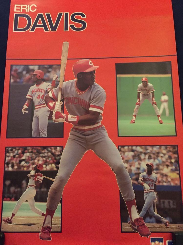 Original Eric Davis Cincinnati Reds Baseball Poster eBay
