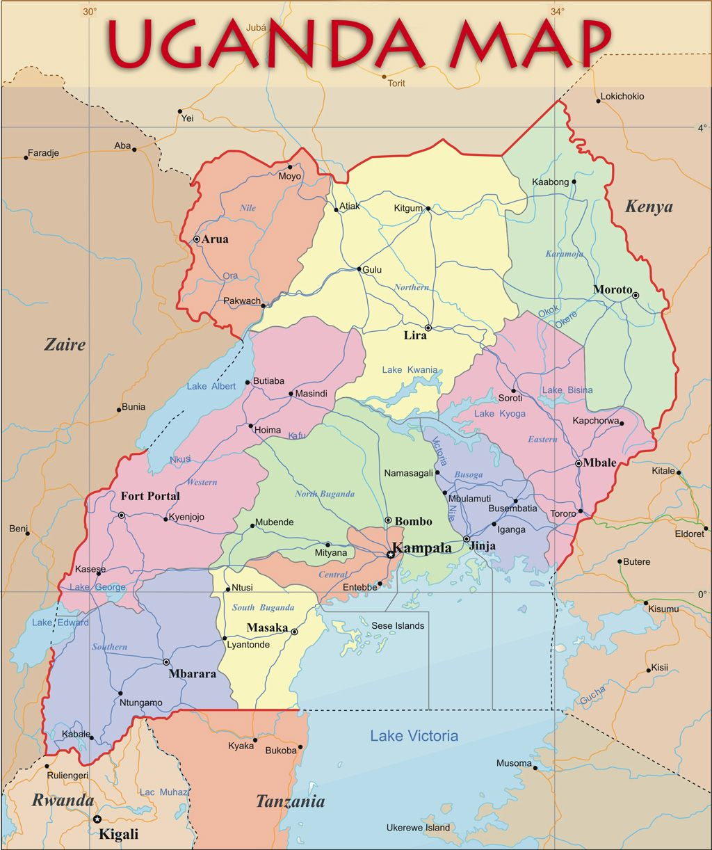 This shows a more in depth map of the country and places i this shows a more in depth map of the country and places i traveled to in uganda sciox Images