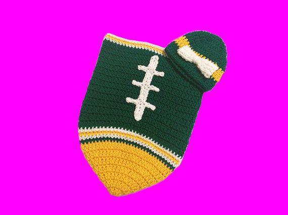 eea8f666 Green Bay Packers Fan Favorite Baby Girl Football Cocoon & Hat ...