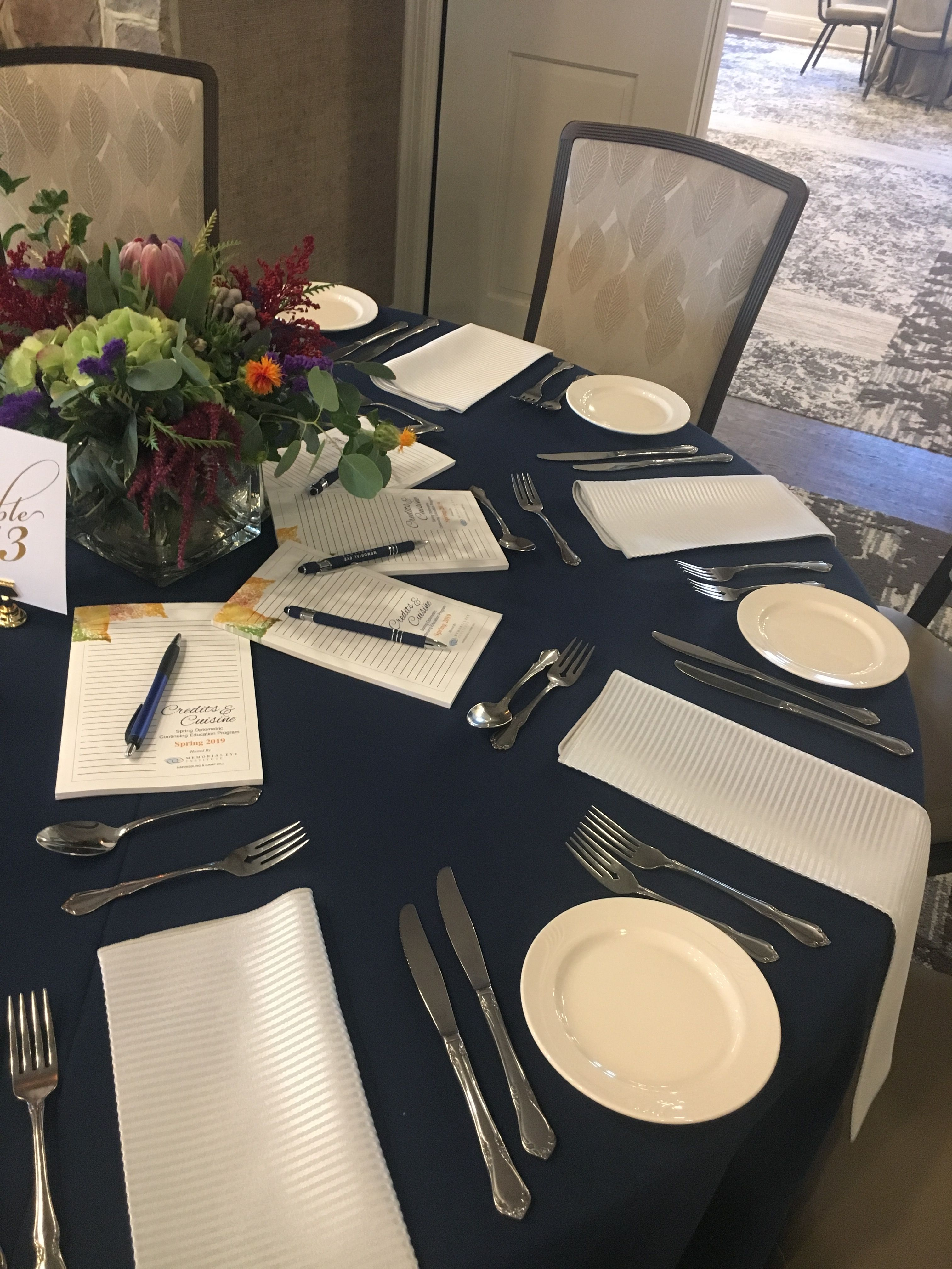Table Setting For A Corporate Event Meeting Corporate Event
