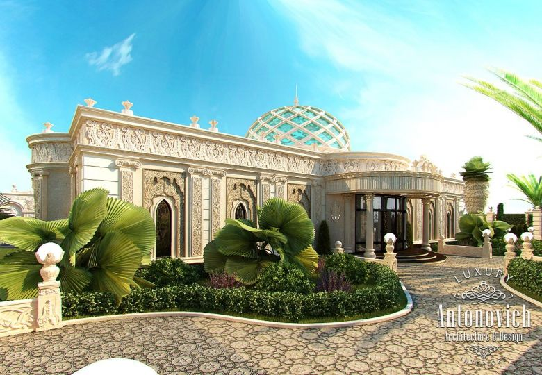 Exterior Design In Dubai Luxury Villa Exterior Abu Dhabi Photo 1