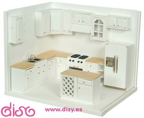 Miniaturas casas de muñecas - Muebles Cocina completa-A2898A ...