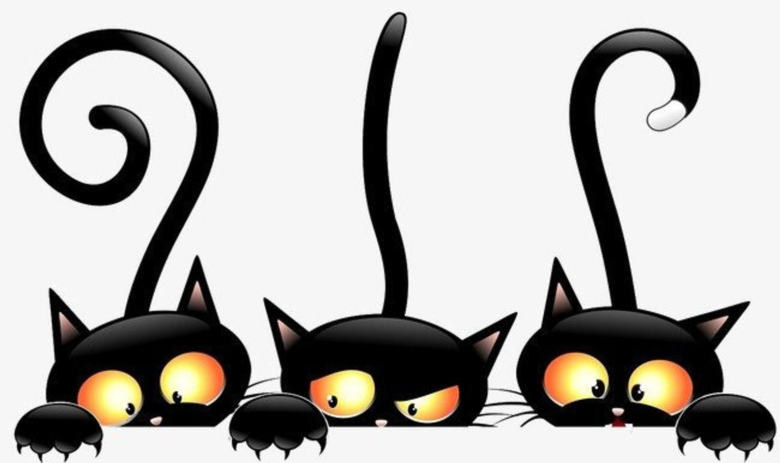 Find the perfect black cat halloween black & white image. 3 Black Cats Counted Cross Stitch Pattern Etsy In 2021 Black Cat Halloween Art Black Cat