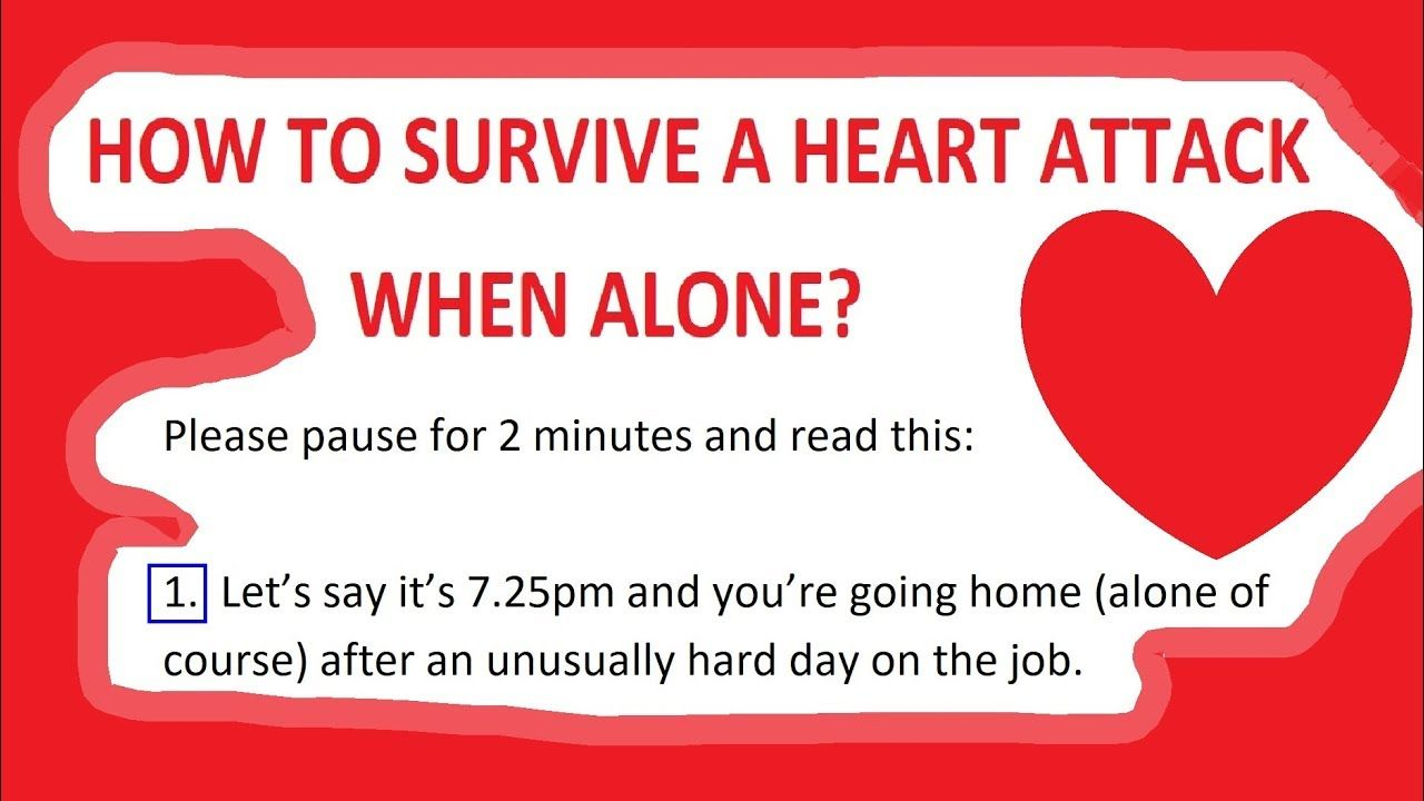 How to survive a heart attack when alone read with
