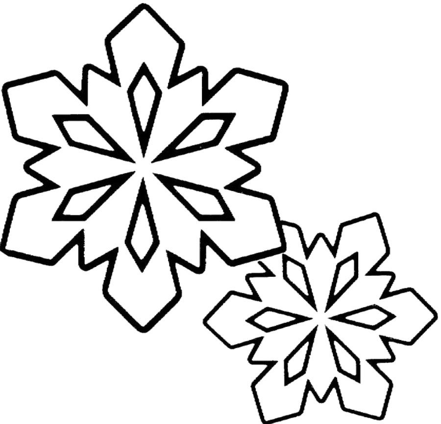 Winter Coloring Pages  Snowflakes Clip Art Black And White Winter