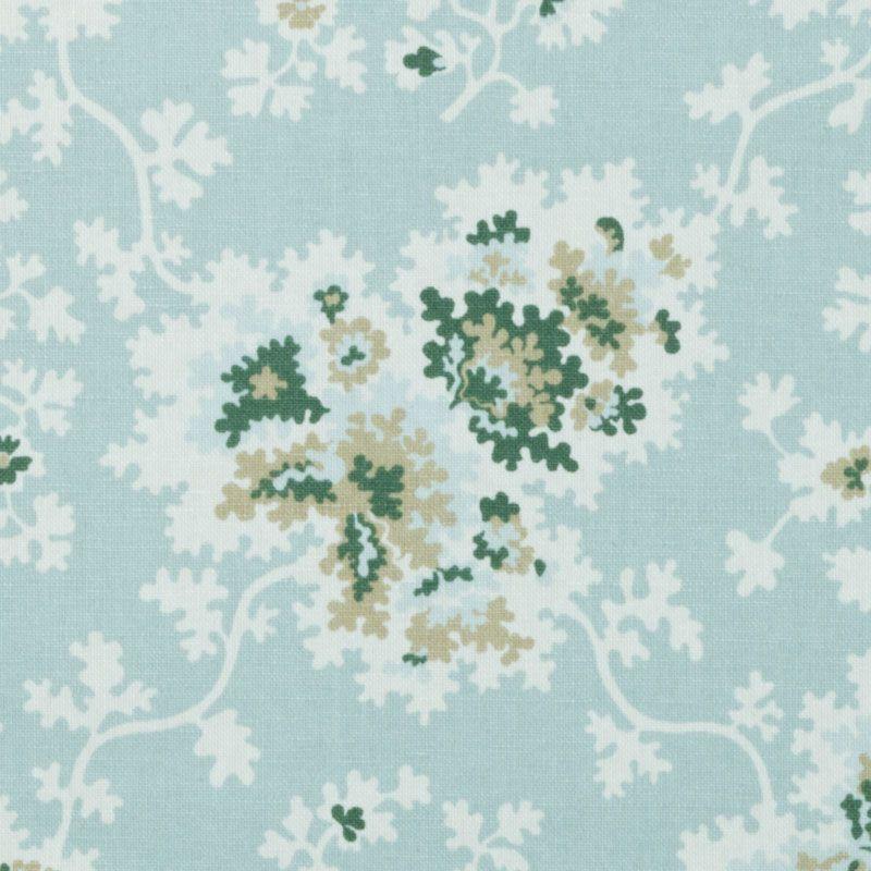 Pattern #:21077-250 Pattern Name: CECILIA, SEA GREEN Book #2937 : Tilton Fenwick Prints Book #2935 - Prussian, Spruce: Tilton Fenwick Collec...