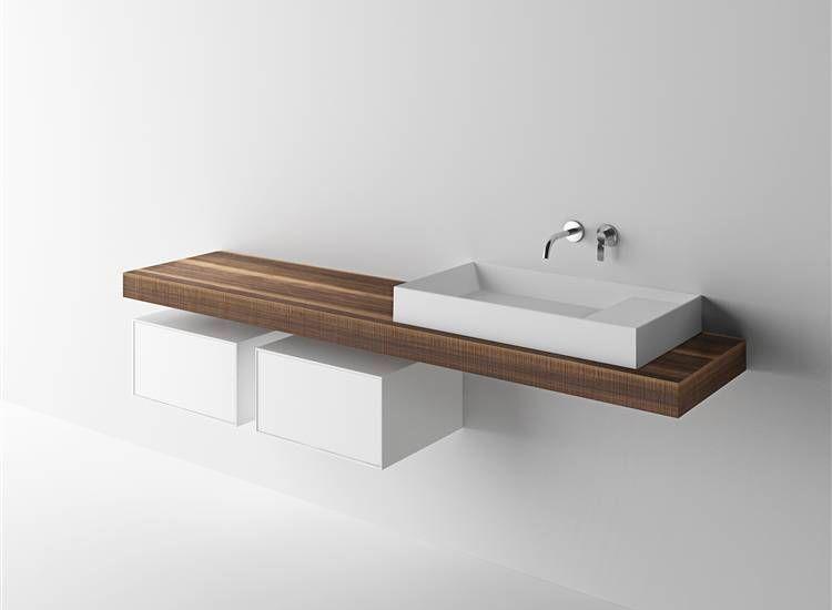 Boffi bathroom wood and corian   Kitchen@bathroom Boffi   Pinterest