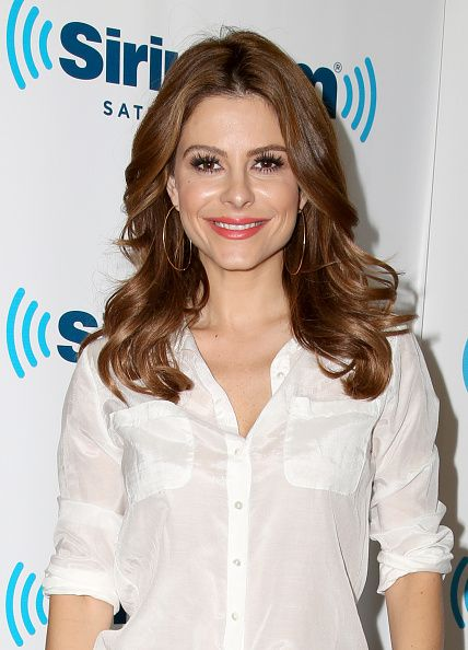 Maria Menounos makes a guest appearance this mornig on Jenny McCarthy's SiriusXM show 'Dirty, Sexy, Funny With Jenny McCarthy' live from the SiriusXM Studios In Los Angeles, California on November 24, 2014