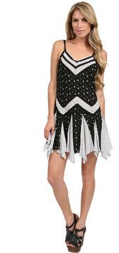2c4d1fb8941f shopstyle.com: Free People In and Out Ditsy Florals Slip in Black/White