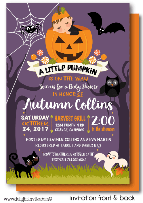 Fall little pumpkin halloween baby shower invitations di 4563fc fall little pumpkin halloween baby shower invitations di 4563fc custom invitations and announcements for all occasions by delight invite filmwisefo
