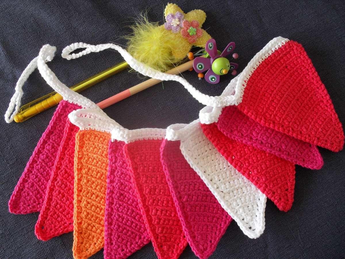 Resultado de imagen de como hacer guirnaldas crochet