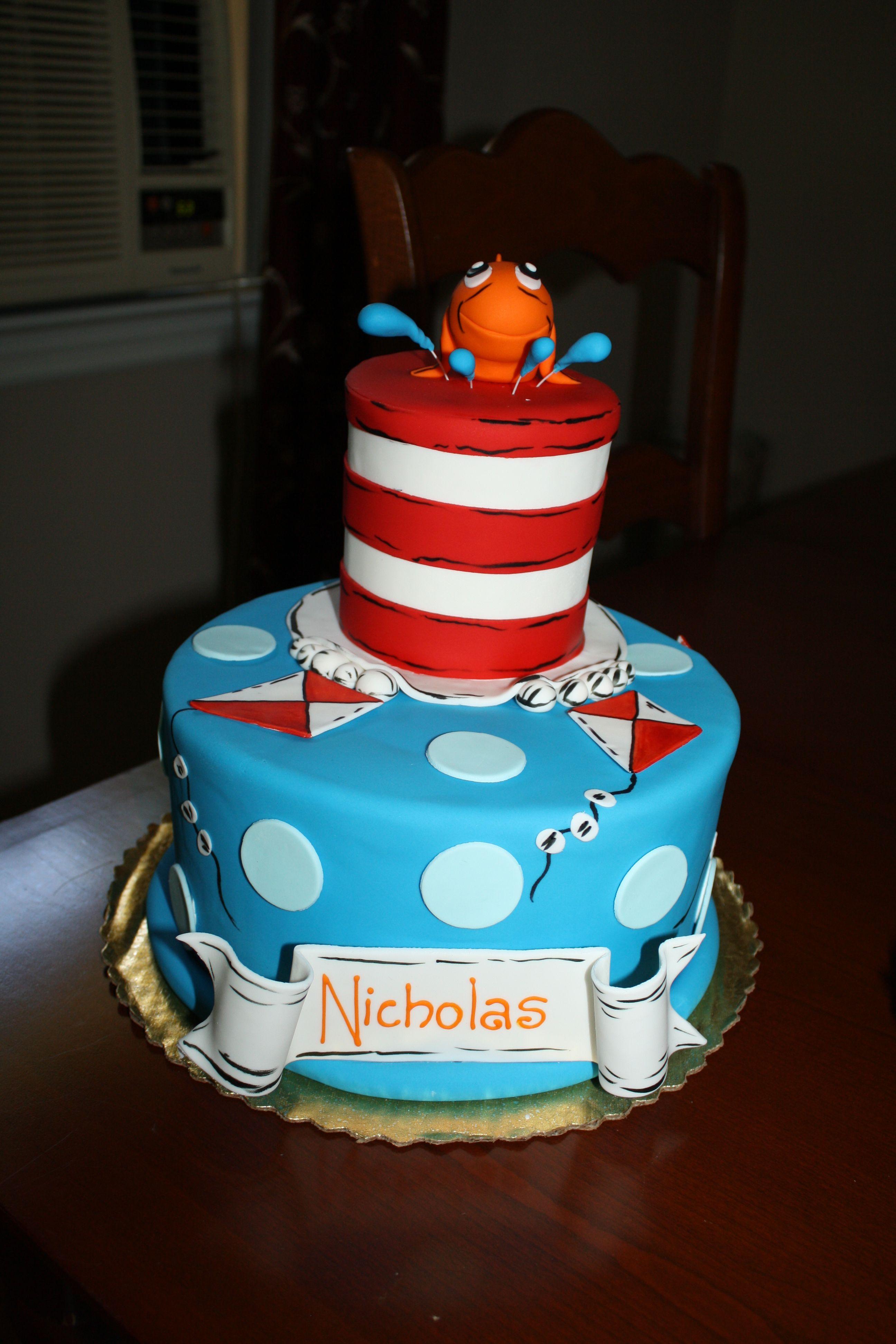 Dr Seuss Cat In The Hat Cake Birthday Cake Kids Girls