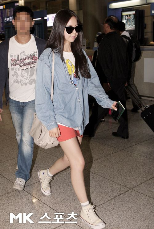 wonder girls sohee korean stars airport fashion